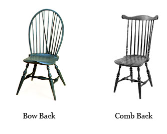 Comb Back. Windsor Side Chairs