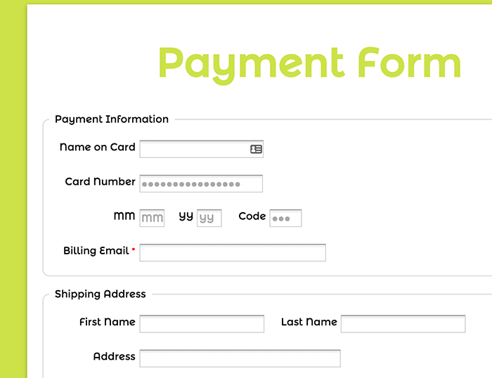 Good Payment Form Template Ideas Payment Form Template